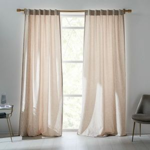 West Elm Abstract Meadow Jacquard Curtain